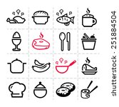 line icon of food and drink ... | Shutterstock .eps vector #251884504