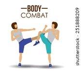 body combat sport design ... | Shutterstock .eps vector #251888209