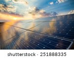 photovoltaic modules on the... | Shutterstock . vector #251888335