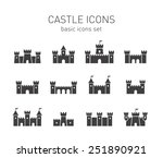 castle icons set. | Shutterstock .eps vector #251890921
