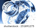 Bottle Neck With Water Drops O...