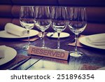 reserved plate on an arranged... | Shutterstock . vector #251896354
