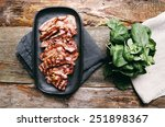 delicious bacon on the tray | Shutterstock . vector #251898367