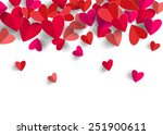3d paper heart isolated in... | Shutterstock .eps vector #251900611