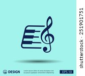 pictograph of music key and...   Shutterstock .eps vector #251901751