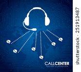 call center design  vector...   Shutterstock .eps vector #251913487