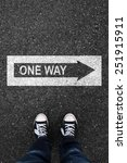 One Way And Asphalt Sign