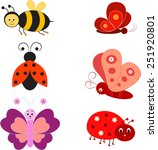 Isolated Insects Vectors  Bee ...