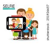 selfie design over white... | Shutterstock .eps vector #251926657