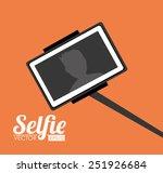 selfie design over orange... | Shutterstock .eps vector #251926684