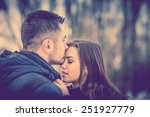 pretty couple outdoor with... | Shutterstock . vector #251927779