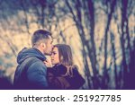 pretty couple outdoor with... | Shutterstock . vector #251927785