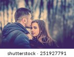 pretty couple outdoor with... | Shutterstock . vector #251927791
