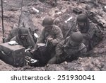 u.s. soldiers of a shore fire... | Shutterstock . vector #251930041