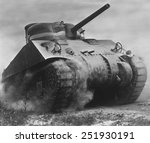 Постер, плакат: The Sherman tank was