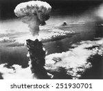 Mushroom Cloud Of Atom Bomb...