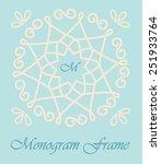 monogram line frame template.... | Shutterstock .eps vector #251933764