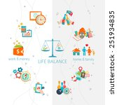 concept of work and life... | Shutterstock .eps vector #251934835