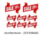 sale tags discount   vector | Shutterstock .eps vector #251938681