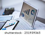 businessman analyzing... | Shutterstock . vector #251939365