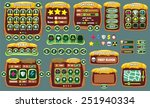 complete set of graphical user... | Shutterstock .eps vector #251940334