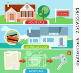 approved mortgage loan... | Shutterstock .eps vector #251955781