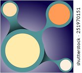 multicolored circles connected... | Shutterstock .eps vector #251970151