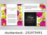 wedding invitation cards with... | Shutterstock . vector #251975491