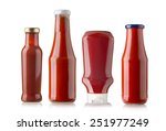 Bottles Of Ketchup Isolated On...