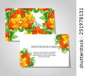 wedding invitation cards with... | Shutterstock .eps vector #251978131