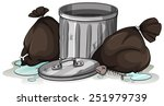 down in the dump idiom on a... | Shutterstock .eps vector #251979739