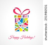greeting card template with cut ... | Shutterstock .eps vector #251980531