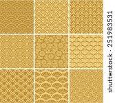 golden wave patterns set ... | Shutterstock .eps vector #251983531