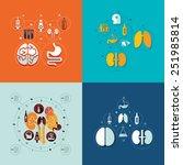 medical flat infographic   Shutterstock . vector #251985814