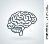 detailed human brain line icon | Shutterstock .eps vector #251986867