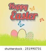 making leaflet happy easter for ... | Shutterstock .eps vector #251990731