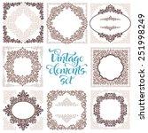 set of vintage ornate frames... | Shutterstock .eps vector #251998249