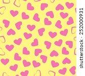 cute seamless vector pattern... | Shutterstock .eps vector #252000931