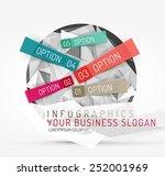 modern origami paper...   Shutterstock .eps vector #252001969