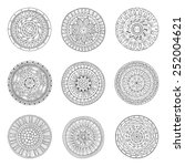round geometric ornaments set... | Shutterstock .eps vector #252004621