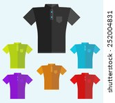 polo shirts colored templates... | Shutterstock .eps vector #252004831