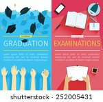 set of two vector education... | Shutterstock .eps vector #252005431