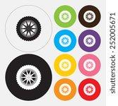 car wheel    vector | Shutterstock .eps vector #252005671