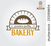 logo or badge for bakery or...   Shutterstock .eps vector #252008854