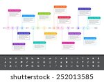 modern flat timeline with... | Shutterstock .eps vector #252013585