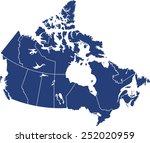 canada map | Shutterstock .eps vector #252020959
