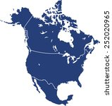 north america map | Shutterstock .eps vector #252020965