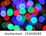 blur bokeh colorful  from led... | Shutterstock . vector #252028285