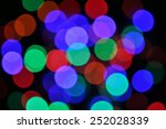 blur bokeh colorful  from led... | Shutterstock . vector #252028339