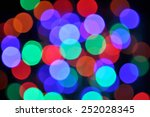 blur bokeh colorful  from led... | Shutterstock . vector #252028345
